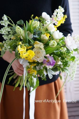 *趣味コース 春の花でブーケ*_e0159050_16072255.jpg