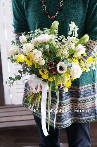 *趣味コース 春の花でブーケ*_e0159050_16073032.jpg