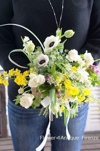 *趣味コース 春の花でブーケ*_e0159050_16073834.jpg