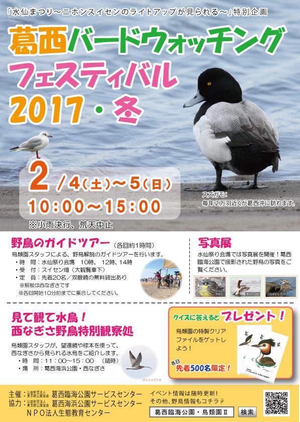 ★葛西バードウォッチング・フェスティバル2017・冬_e0046474_11303250.jpg