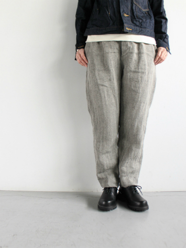 R&D.M.Co- LINEN HERRINGBONE EASY PANTS _b0139281_14394583.jpg