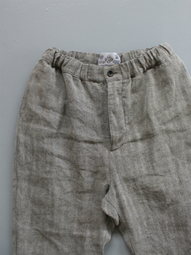 R&D.M.Co- LINEN HERRINGBONE EASY PANTS _b0139281_14395724.jpg
