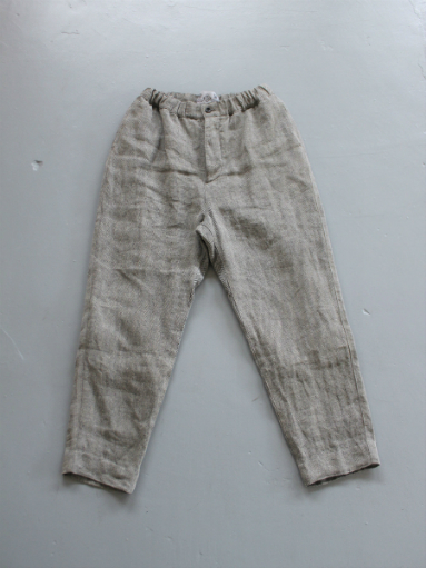 R&D.M.Co- LINEN HERRINGBONE EASY PANTS _b0139281_14401381.jpg