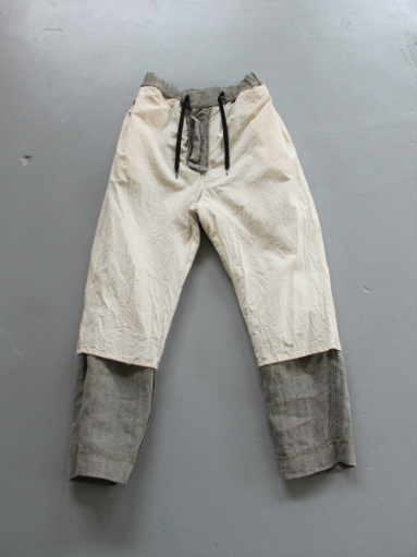 R&D.M.Co- LINEN HERRINGBONE EASY PANTS _b0139281_14401861.jpg
