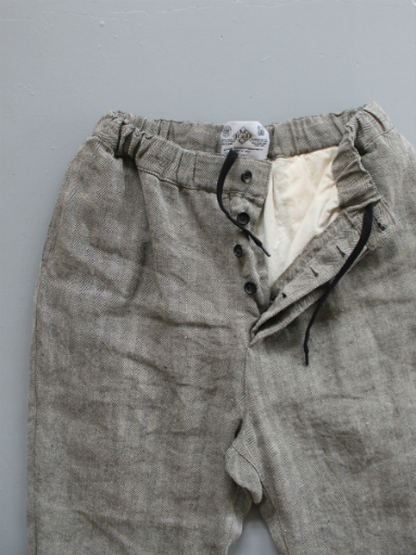 R&D.M.Co- LINEN HERRINGBONE EASY PANTS _b0139281_1440228.jpg