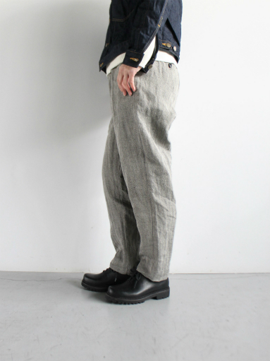 R&D.M.Co- LINEN HERRINGBONE EASY PANTS _b0139281_14402595.jpg