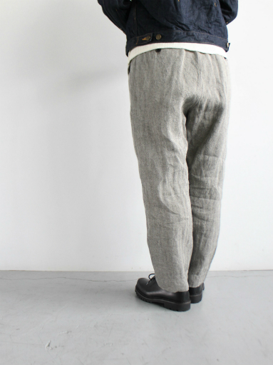 R&D.M.Co- LINEN HERRINGBONE EASY PANTS _b0139281_14402993.jpg