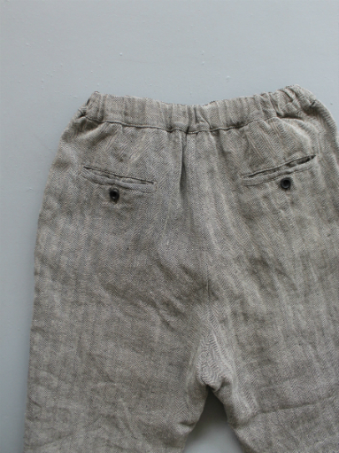 R&D.M.Co- LINEN HERRINGBONE EASY PANTS _b0139281_14408100.jpg