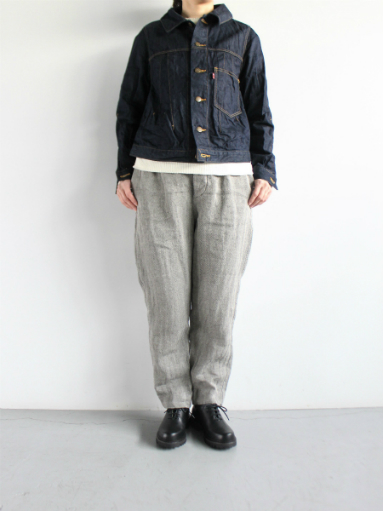 R&D.M.Co- LINEN HERRINGBONE EASY PANTS _b0139281_1441087.jpg