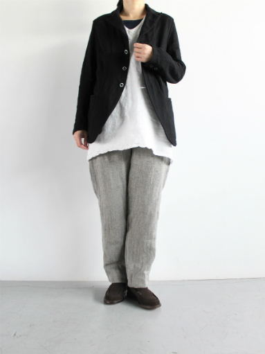 R&D.M.Co- LINEN HERRINGBONE EASY PANTS _b0139281_14411117.jpg