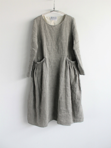 R&D.M.Co- LINEN HERRINGBONE PULLOVER DRESS _b0139281_1445103.jpg