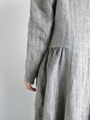 R&D.M.Co- LINEN HERRINGBONE PULLOVER DRESS _b0139281_14453397.jpg