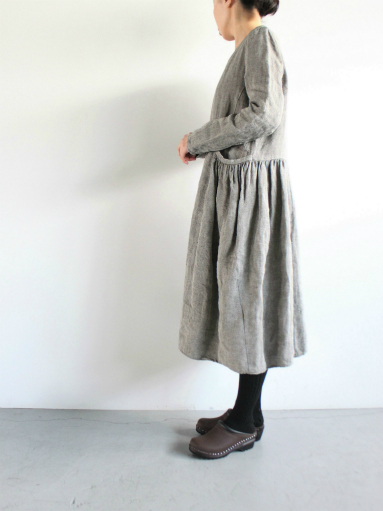 R&D.M.Co- LINEN HERRINGBONE PULLOVER DRESS _b0139281_14453959.jpg
