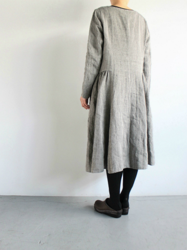 R&D.M.Co- LINEN HERRINGBONE PULLOVER DRESS _b0139281_14454750.jpg