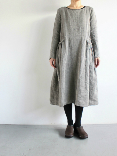 R&D.M.Co- LINEN HERRINGBONE PULLOVER DRESS _b0139281_1445658.jpg