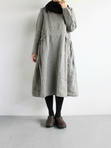 R&D.M.Co- LINEN HERRINGBONE PULLOVER DRESS _b0139281_14464652.jpg