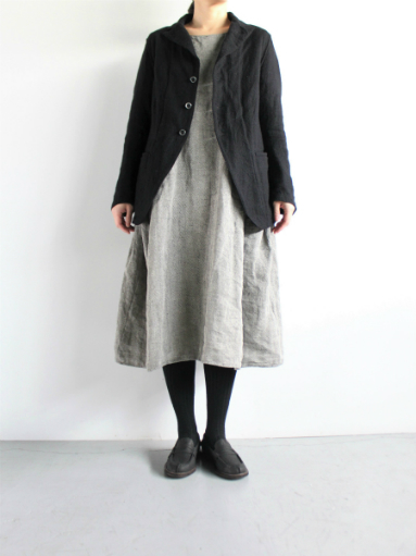 R&D.M.Co- LINEN HERRINGBONE PULLOVER DRESS _b0139281_14465034.jpg