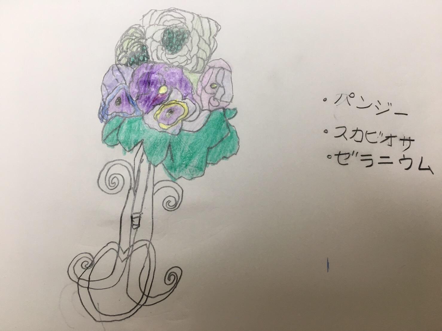 パリスタイル♡フラワーブーケレッスン(◍•◡•◍)♡♬_a0213806_19443363.jpg