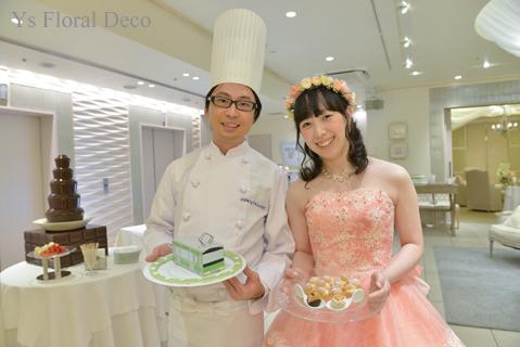 サーモンピンクのドレスにあわせるブーケと花冠_b0113510_09204311.jpg