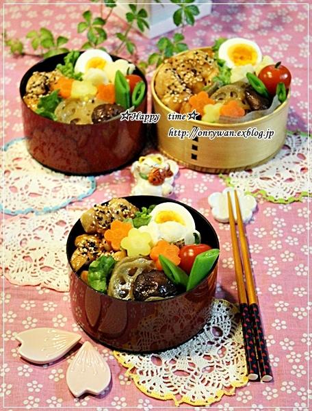 ゴマ照りチキンでのっけ盛り弁当とキムチ鍋♪_f0348032_19051724.jpg