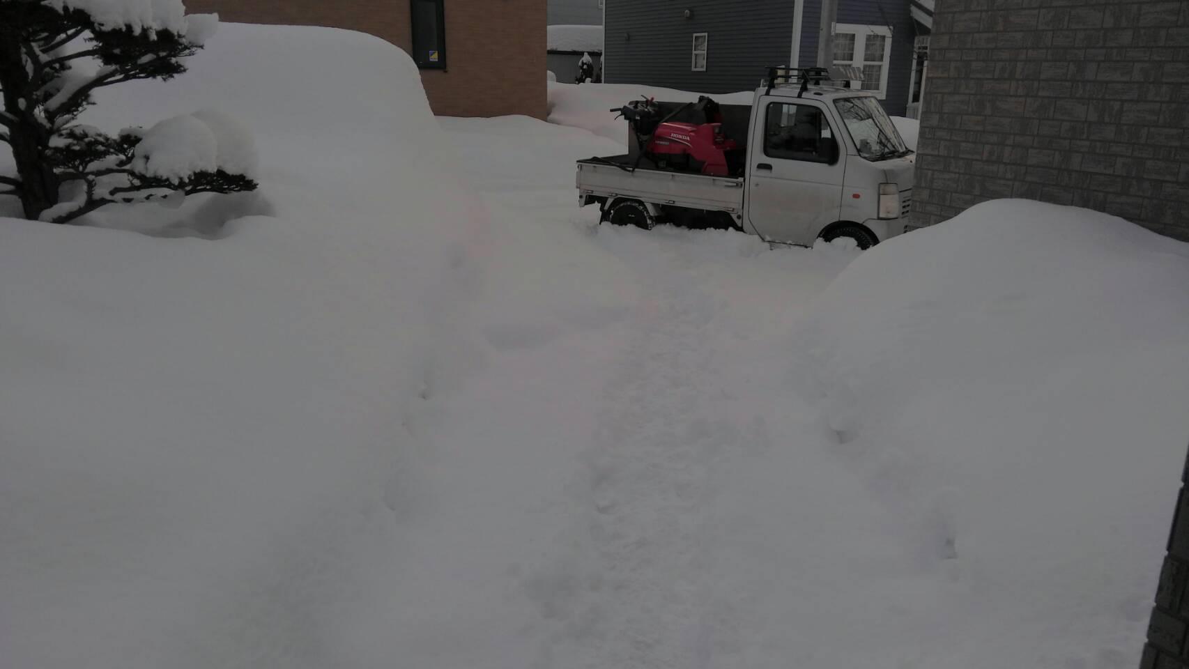 屋根の雪おろし_a0216771_17461157.jpg