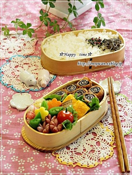 磯辺巻きロールカツ弁当と常備菜作り♪_f0348032_17562767.jpg