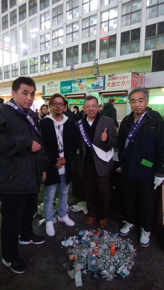 渋谷ハチ公前で清掃活動始めました(その他部門)_d0057733_11283965.jpg