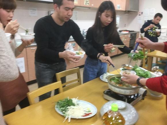 日曜朝教室 鍋・鍋 料理_e0175020_16214569.jpg
