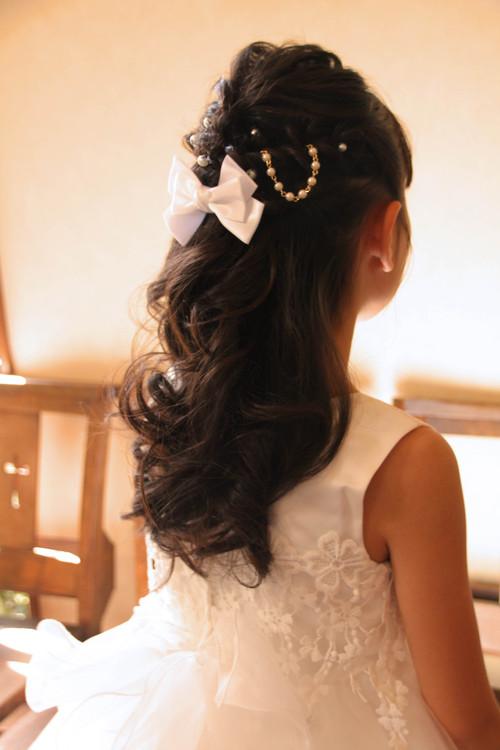 ピアノ発表会 ハーフアップ ヘアアレンジ 子供 髪型 ドレス さくら市美容室エスポワール_f0052744_11325112.jpg