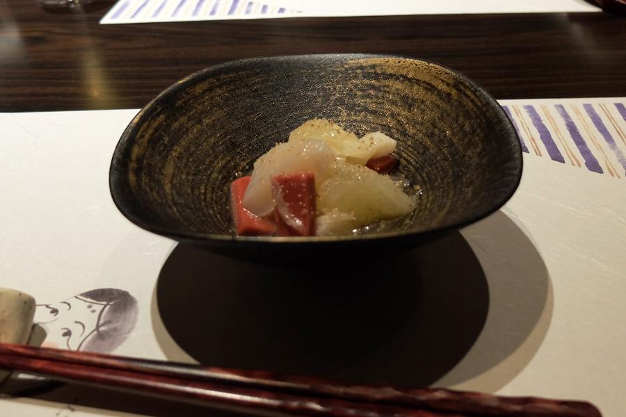 Uさんの大台の誕生日会のお料理、<四谷ふく>にて_a0031363_4242273.jpg
