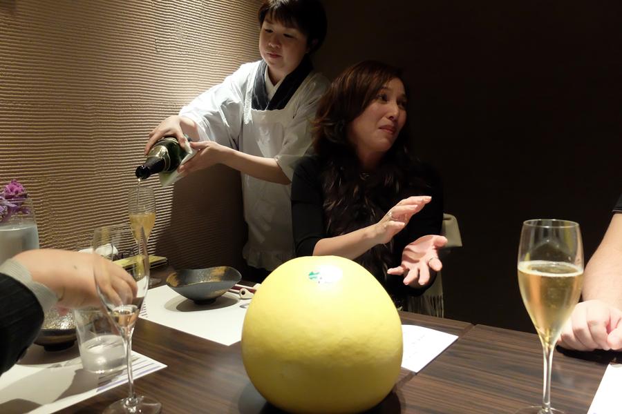 Uさんの大台の誕生日会のお料理、<四谷ふく>にて_a0031363_426645.jpg