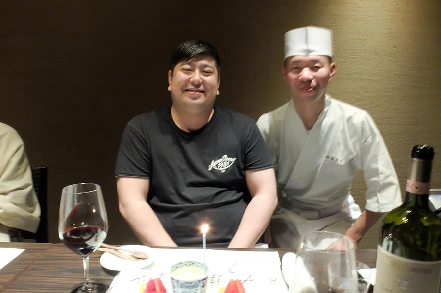 Uさんの大台の誕生日会のお料理、<四谷ふく>にて_a0031363_4422891.jpg