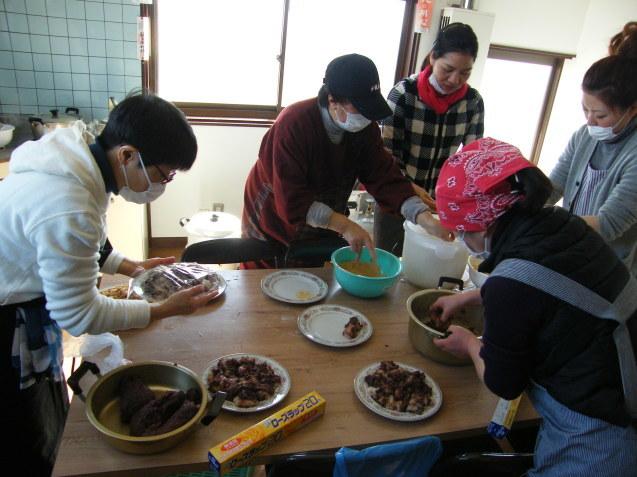 西島さんと味噌作り(^^)_e0356470_13243858.jpg