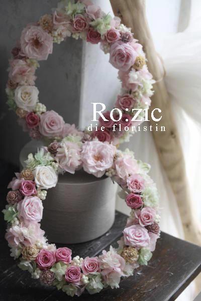 2017.2.1 花束のかわりに ご両親贈呈用のプリザーブドフラワーリース_b0120777_21064742.jpg