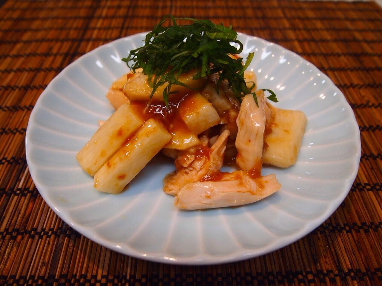 長芋とササミの梅肉ポン_a0258686_5545917.jpg