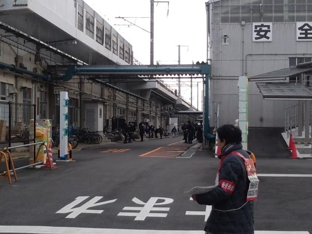 1月31日、博多総合車両所岡山支所で本部情報を配りました_d0155415_23365397.jpg