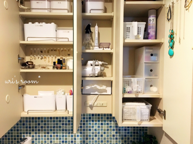 洗面所の鏡裏収納を初公開!ここは私の1軍アクセサリー収納場所です(´∀`)_a0341288_08335804.jpg
