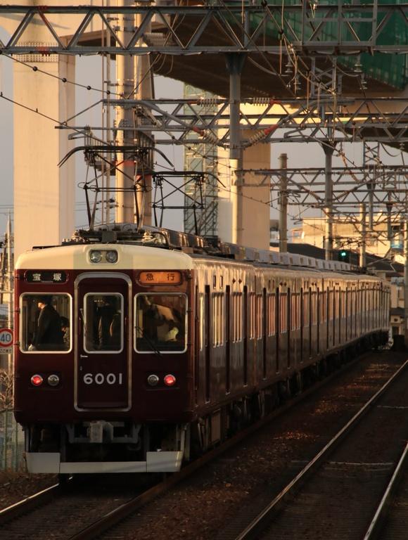 阪急 夕方 蛍池駅にて!!_d0202264_196855.jpg
