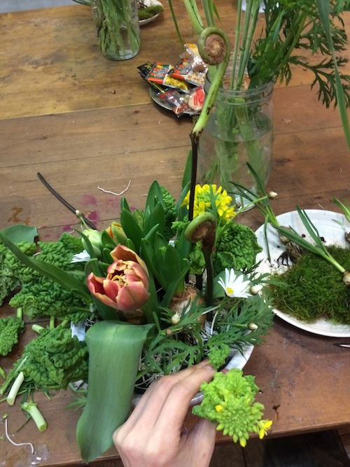 お花の教室(球根*ゼンマイ*菜の花)_f0324766_14382857.jpg