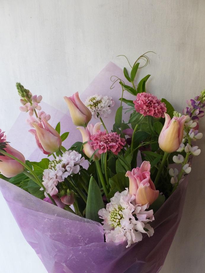 オークリーフ(チューリップを入れた花束)_f0049672_1224261.jpg