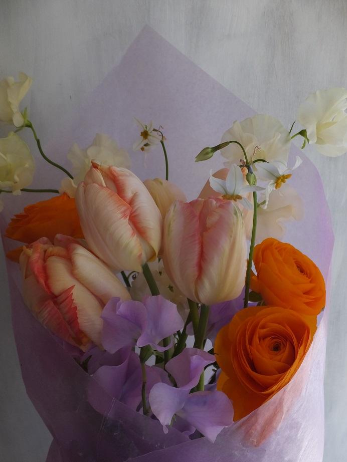 オークリーフ(チューリップを入れた花束)_f0049672_1224299.jpg