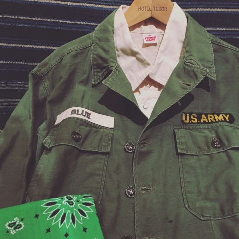 "1960-63 "" U.S ARMY \"" 100% cotton SATEEN FATIGUE SHIRTS - 1st model - ._d0172088_20200635.jpg"