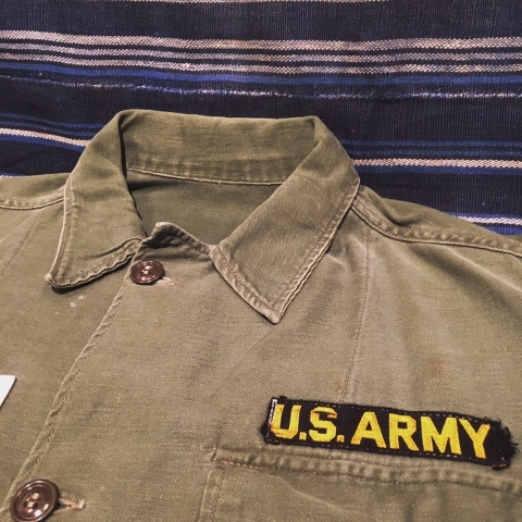 "1960-63 "" U.S ARMY \"" 100% cotton SATEEN FATIGUE SHIRTS - 1st model - ._d0172088_20365662.jpg"