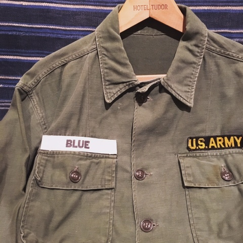 "1960-63 "" U.S ARMY \"" 100% cotton SATEEN FATIGUE SHIRTS - 1st model - ._d0172088_20392411.jpg"