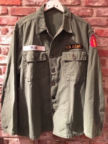 "1960-63 "" U.S ARMY \"" 100% cotton SATEEN FATIGUE SHIRTS - 1st model - ._d0172088_20443599.jpg"