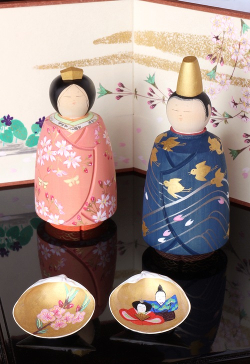 松尾春海の彩色雛展 9日から開催_c0218903_21222935.jpg