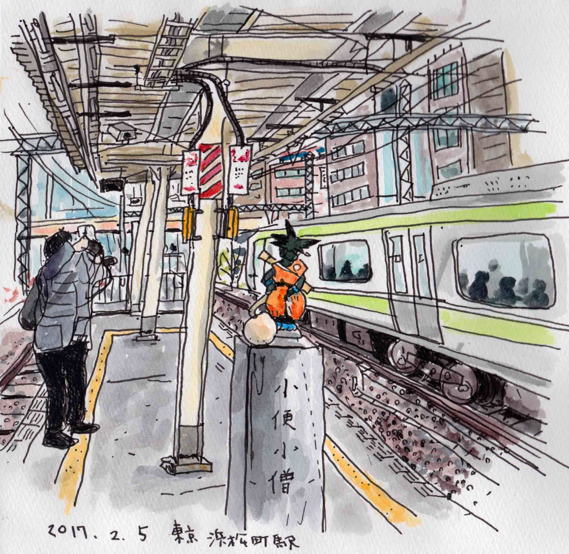 浜松町駅ホームのスケッチ_f0072976_22370452.jpeg