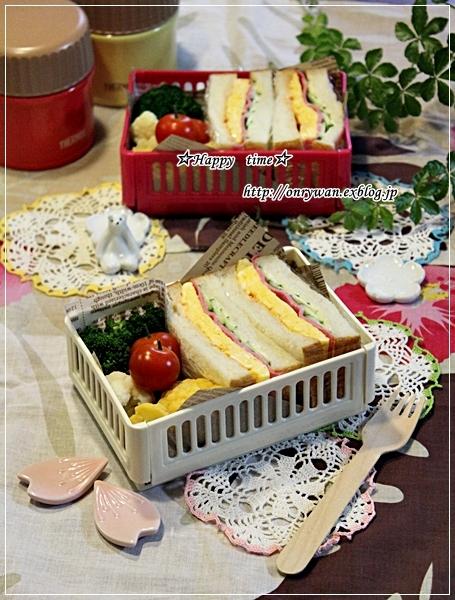 湯種食パンで玉子サンド弁当♪_f0348032_18013674.jpg