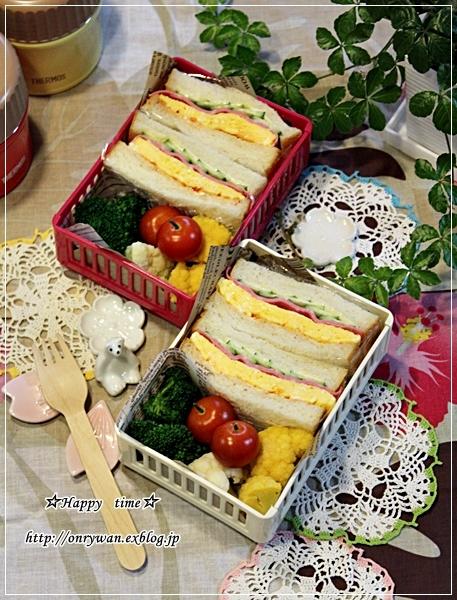 湯種食パンで玉子サンド弁当♪_f0348032_18014715.jpg