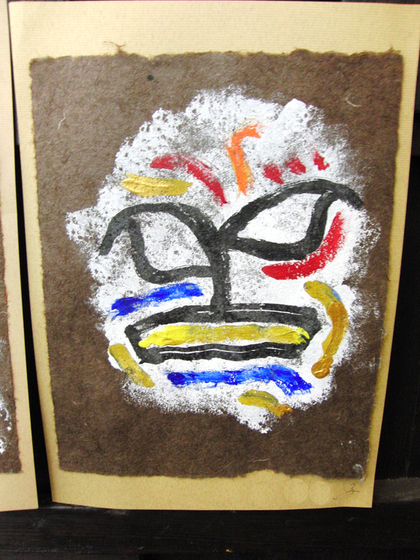 絵画 ~ トンパ文字から描く絵画 ~_e0222340_15513267.jpg